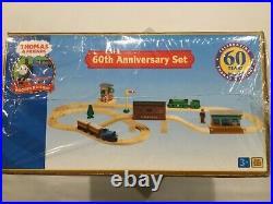 New Thomas Wooden Railway 60th Anniversary Set (lc99520) 8 Golden Track 3+