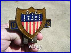 Original 1920 s- 1930s Vintage ww2 auto Bumper flag bracket Ford gm chevy olds