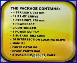 Policar Premium Subaru BRZ Drift Slot Racing Set (132, Runs Scalextric Cars)