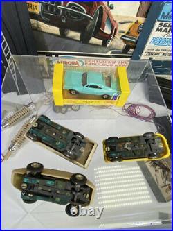 Rare Stirling Moss Aurora Model Motoring Thunder Jet 500 motor HO Cars Track Set