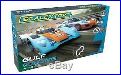Scalextric C1384T Gulf Racing Set Gulf LMP vs GT Gulf 1/32 Slot Car / Track Set