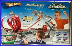Sealed New in Box 2005 Hot Wheels AcceleRacers AcceleDrome Track Set 4 cars NOS