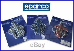 Sparco Universal Hood Pin Race Track Car Racing Red Lock Kit Set Pair 01606ar