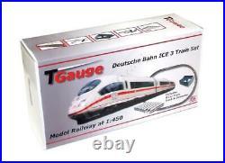 T Gauge 1450 Scale German Railways ICE 8 Car Starter Set with120mm Loop Track