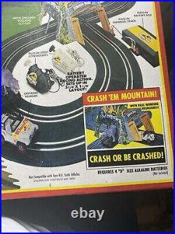 TYCO Jurassic Park Survival Chase Slot Car Set 1992 8219 Rare