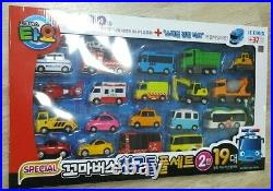 Tayo Little Bus Special Friends Mini Car Full Set 2nd Edition 19 pcs Iconix