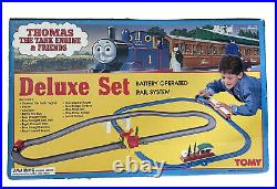 Tomy Thomas The Tank Engine Train Tracks Battery Rail Deluxe Set New In Open Box