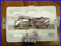 Trump Train Set, Bradford Exchange engine, 8 cars, and tracks