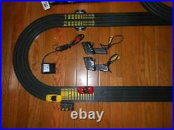 Tyco Dodge Viper Maximum 440 X2 Slot Cars Electric Racing Set with18 Extra Tracks