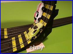 Tyco HO Scale Zero Gravity Cliff Hangers Homemade Slot Car Race Track Set