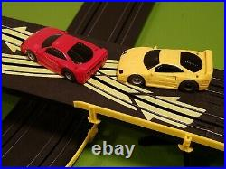 Tyco/Mattel HO Scale Slot Car 6 in 1 Race Track Set Complete/Lot with2 440x2 Cars