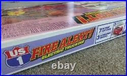 Tyco US 1 Fire Alert Electric Trucking Set Slot Car Track set New in Box #3214