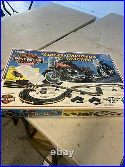Tyco slotcar track HARLEY DAVIDSON ELECTRIC vintage slot car RACING MOTORCYCLE