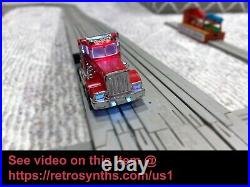 US 1 Electric Trucking Night Haulers set with EXTRAS! US-1 Slot Car Trucks Track