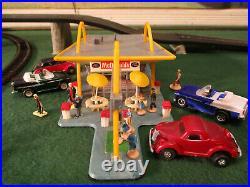 VINTAGE Life Like McDonalds Aurora T Jet Slot Car Train Track Set Building