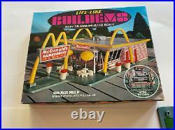 VINTAGE NOS Life Like McDonalds Slot Car Train Track Set Building