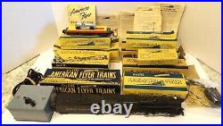 Vintage 1952 American Flyer Train Set with 316 Penn Loco, Cars, Track & More