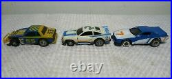Vintage 1977 Ideal TYCO TCR Slot Car Total Control Racing Track Set With 3 Cars