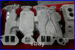 Vintage EDELBROCK Intake Manifold 303 324 OLDSMOBILE 3X2 Stromberg Hot Rod OLDS