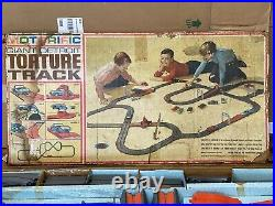 Vintage Ideal 1965 Motorific Giant Detroit Torture Track Slot Car Road Race Set