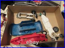 Vintage STROMBECKER ROAD RACING Slot Car Set COMPLETE RACE TRACK With Extras