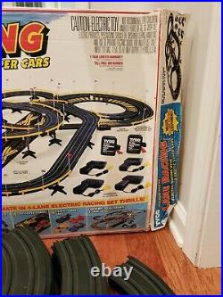 Vintage Tyco Magnum 440-x2 4 Lane Racing Track Set 6686 Not Complete No Cars