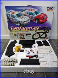 Vintage Tyco Super Circuit S-500 Super Stockers Race Set Slot Car Track MIB AFX