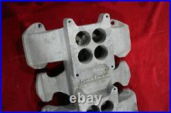 Vintage WEIAND Intake Manifold 371 394 OLDSMOBILE 2x4 4v Hot Rod Custom oldS V8